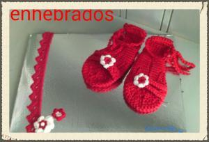 enhebrados , sedería, sandalias bebe, hand made